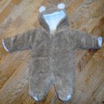 Костюм Медвежонок бежевый с ушками (весна-осень) 60-70 см