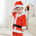 Новогодний костюм Санта Клауса на ребенка от 0 до 4 месяцев
