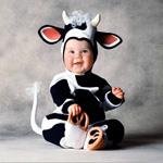 Костюм коровы буренки для детских праздников 12-18 мес.