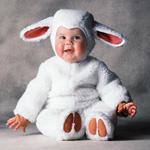 Забавный меховой костюм Овечка на ребенка 12-18 мес.
