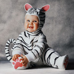 Плюшевый комбинезон костюм Тигренок белый на детей 12-18 мес.