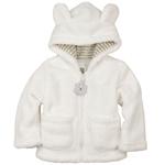 Плюшевая белая курточка с ушками на малыша 4-6 мес., 7-9 мес.
