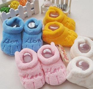 ae1616012 Плюшевые тапочки для новорожденных First walker от 0 до года