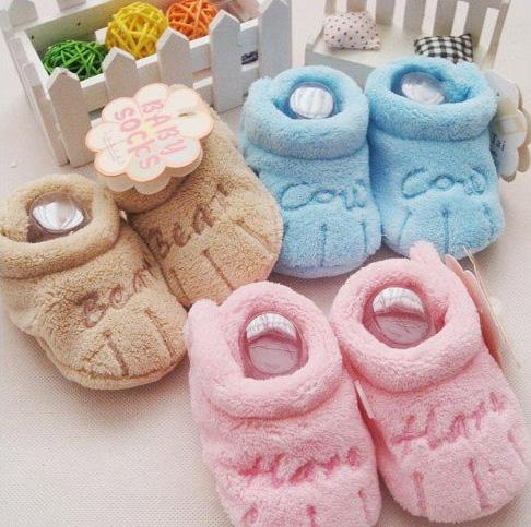 7a572f073 ... 0 до года. плюшевые мягкие тапочки носки для новорожденного малыша